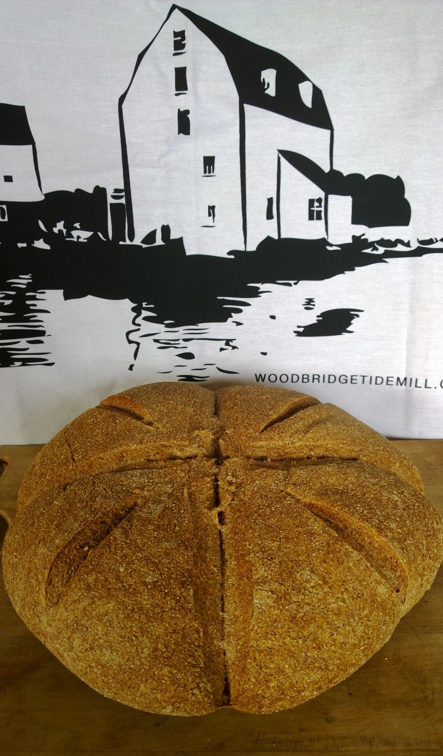 Tidemill black and white canvas shopper and a 1 x 4 SweetDough loaf